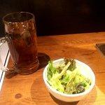 炭火焼肉 ぶち - サラダ(2017.12)