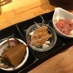 やしの実食堂 - 珍味三種