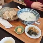 奥泉 - 1/7の七草粥と水餃子セット