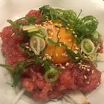 やしの実食堂 - 本鮪中落(ユッケ)