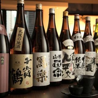 『日本酒・焼酎』銘柄ご用意!!
