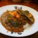 日乃屋カレー - 名物カツカレー三種の野菜トッピング
