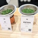 東京茶寮 - 「Z1」と「あさつゆ」を選択