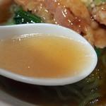79352538 - ランチ麺セット(八宝湯・カレー味揚豚と青菜載せ麺)980円