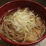 禅紫 - 鴨のはりはり鍋の〆の蕎麦