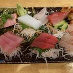 奥武島海産物食堂 - お刺身盛り。