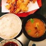 天音 - 上天婦羅御飯のご飯と味噌汁