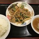 中華 珍来麺工房 - 料理写真:・「焼肉定食(\700)」