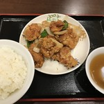 中華 珍来麺工房 - ・「唐揚げ定食(\700)」