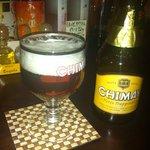 bar らくざ - ベルギービール 常温で頂きます