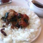 インド式 チャオカリー - チキントマトほうれん草curry