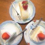 ポーズカフェ - 純生ロールケーキ&ルージュ×2
