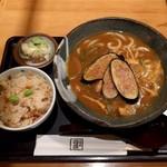 饂飩四國 - 揚げ茄子カレーうどん定食(920円)