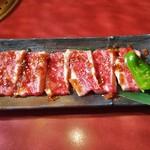 カルビ一丁 - 和牛焼肉ランチ1380円。