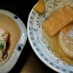 さんきち - 白子豆腐と、おでん3種