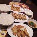 バーミヤン - ささみ鶏天と餃子