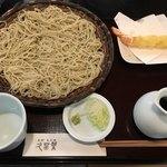蕎麦彩彩 久留葉 - セイロ+大海老天
