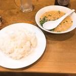 79366489 - セットのご飯とスープ