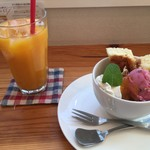 瀬戸内ジャムズガーデン - ジャム屋パフェ(でこぽんマーマレード) 柑橘100%ジュース
