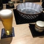 京都 瓢斗 - まずはビール