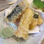 鮨処 あすか - 嶽きみの天ぷら