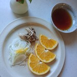 つくば食堂 花 - うれしいサプライズの   八朔 これに トーストで     朝ごはん