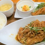 胡食 - 油淋鶏ランチ1000円