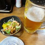 居酒屋 まる - 料理写真:生中とお通し。
