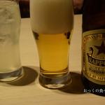 79372497 - 瓶ビール550円と生レモンサワー600円