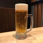 博多一風堂 - 生ビール(500円)