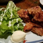 炭火焼と旬のおさかな 菜の花 - 地鶏から揚げ