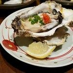 炭火焼と旬のおさかな 菜の花 - 生牡蛎アップ