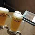 HAHAHA - 生ビール。モルツ。270円。