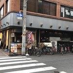 薩摩 茶美豚 とんかつ 花 - 店の外観 ※安全な場所、横から撮影