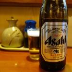 とんかつ一里塚 - 「中瓶」のドライビール