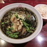 麺ダイニング ととこ - 黒胡麻担々麺880円・麦ごはん