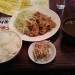 桃源 - 料理写真:生姜焼定食 850円