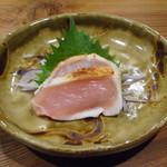 やき鳥 たかはし - 岩手県南部鶏ムネ肉タタキ