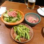 79389204 - サラダ 枝豆 和風生ハム
