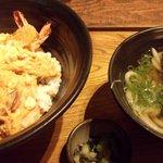 麺匠の心つくし つるとんたん - 天とじ丼(うどん一汁つき) (¥1300)