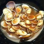 とんかつ寿々木 - とんかつ 寿々木 コレド室町店 @三越前 ランチ カキフライ定食に付く味噌汁は蜆の赤出汁