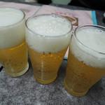 圓記 - ビールで乾杯♪