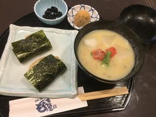 錦 もちつき屋 - お雑煮セット950円磯巻き選択