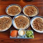 渚庵 - 皿鯖(1,550円)の皿そば