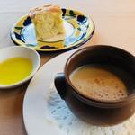 キハチ - 本日のスープ&パン