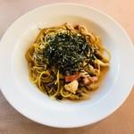 キハチ - 伊達鶏と茸のフランコ・ジャポネ風スパゲッティ