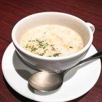 ハンバーグ&ステーキ 芝浦 - ランチのスープ