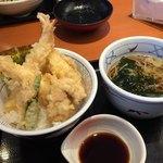 和食さと - 鶏海老天丼セット
