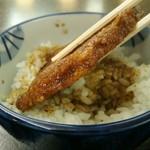 越のゆ - 料理写真:ソースカツ丼(小丼)320円(税込)