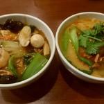 79406411 - ミニ中華丼のミニ担々麺のセット。
